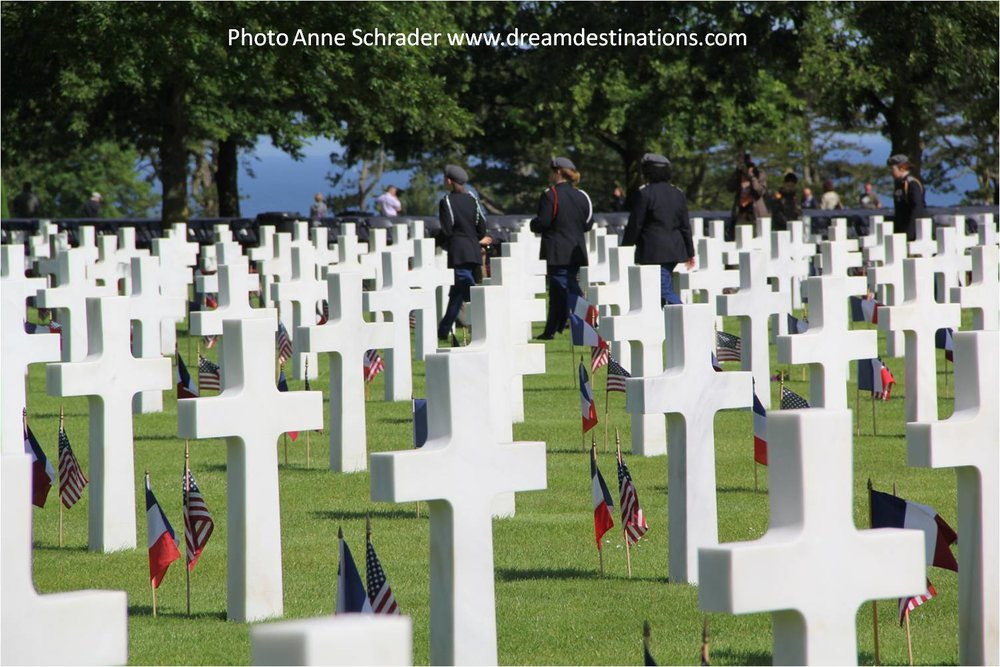 Our 2014 visit during the 70th Anniversary of D Day—it is a humbling place that honors those who sacrificed for us in WW II