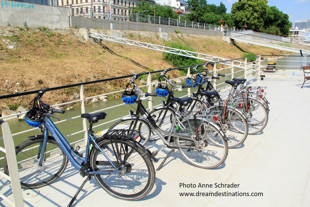 Bikes at the ready on AmaWaterways—several of our clients loved the escorted bike tours—even millionaires need to stay fit!