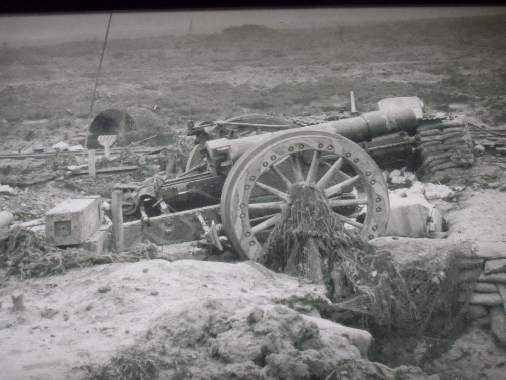 WW I Artillery Piece Photograph on display in the Tourist Information Center