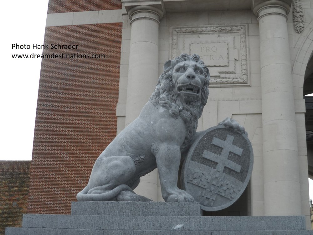 A Lion guards the Menin Gate