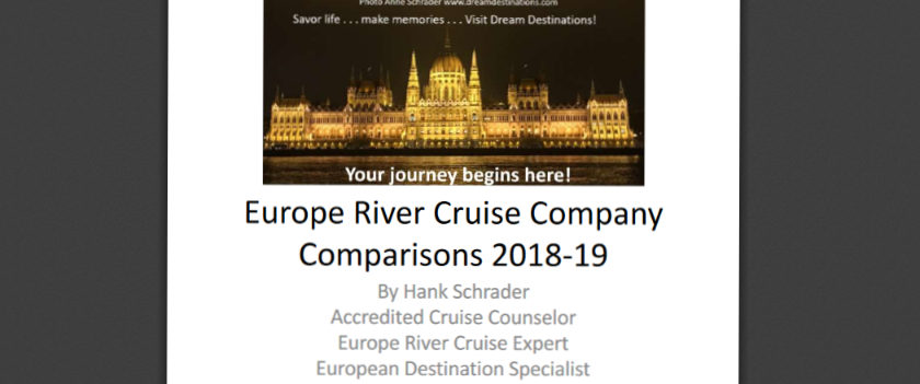 Cover Slide of our 2019 River Cruise Comparisons PDF