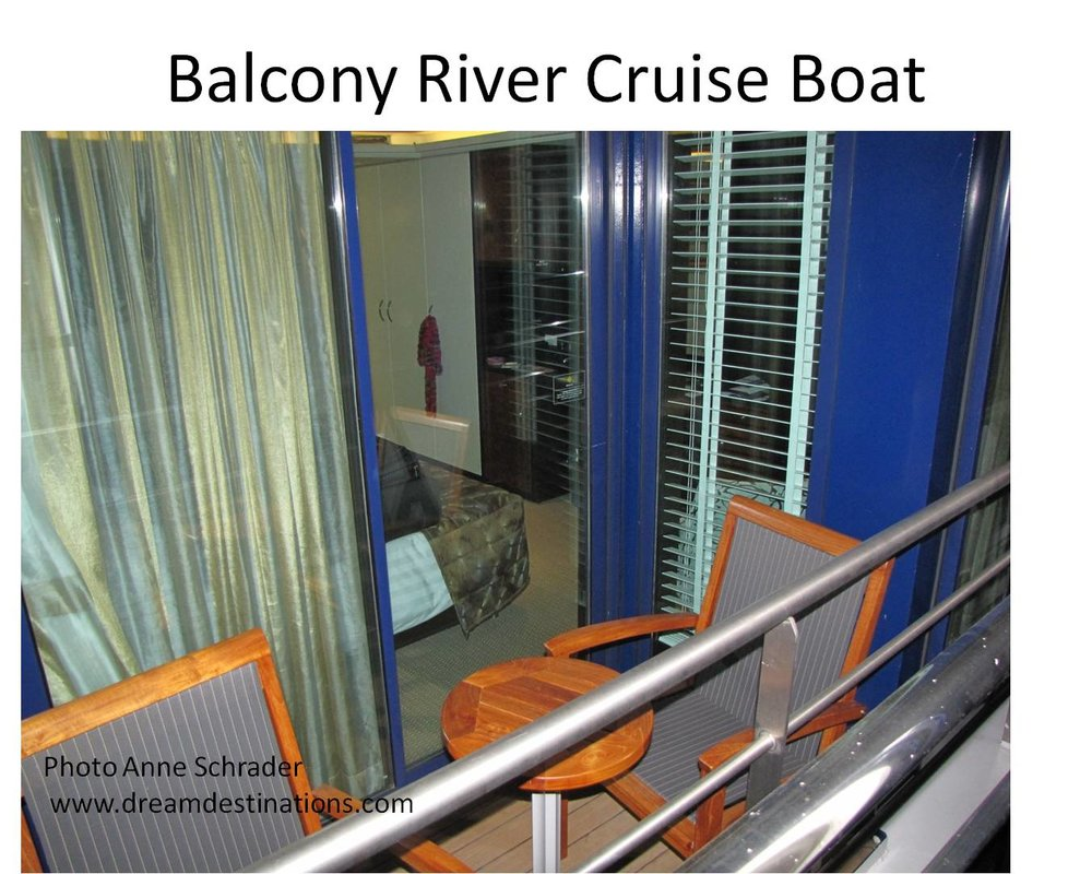 Outside Twin Balcony on an AmaWaterways rivership