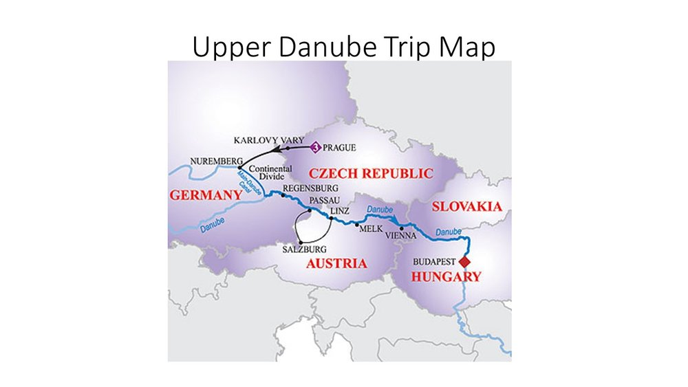 Upper Danube Route Map from AmaWaterways