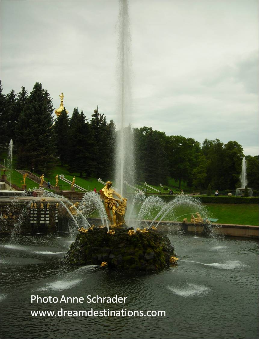 Samson Fountain at Peterhof Place, just outside of St. Petersburg