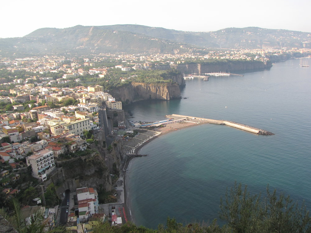 The Dramatic Amalfi Coastline—look closely and you can see the cliff side road
