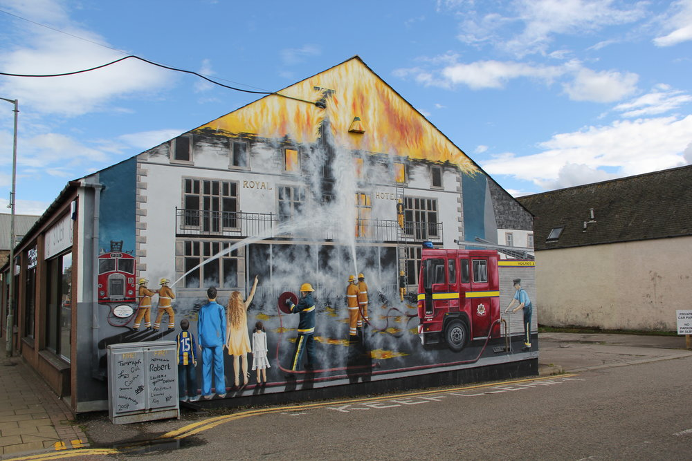 Fire! Fire! Firefighters in Action, , remembering when the Royal Hotel burned down in Invergordon, Scotland