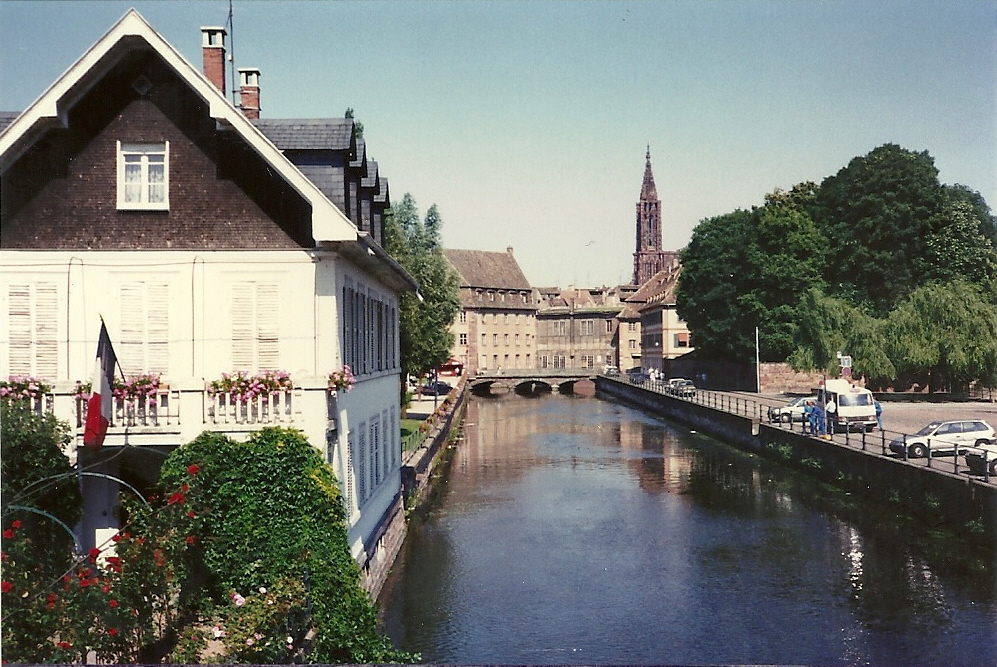 A picture of the wonderful canals taken by Anne of Strasbourg France in 1989