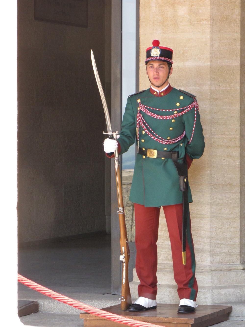San Marino Guard at City Hall