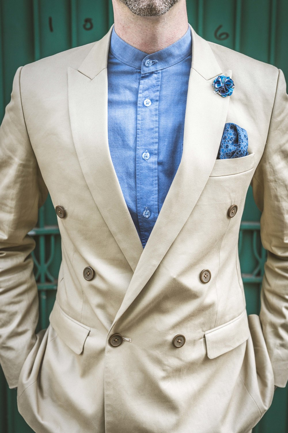 Men's Tailor Made 2-Piece Khaki Suit