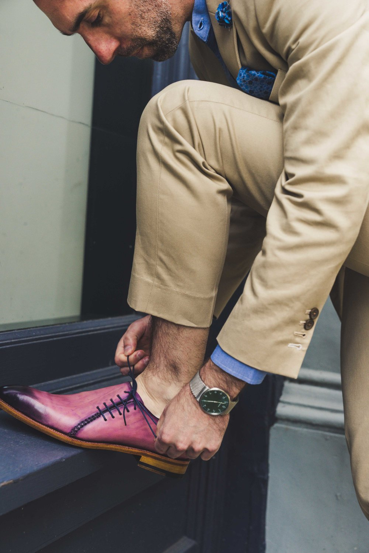 Men's Bespoke Purple Shoes