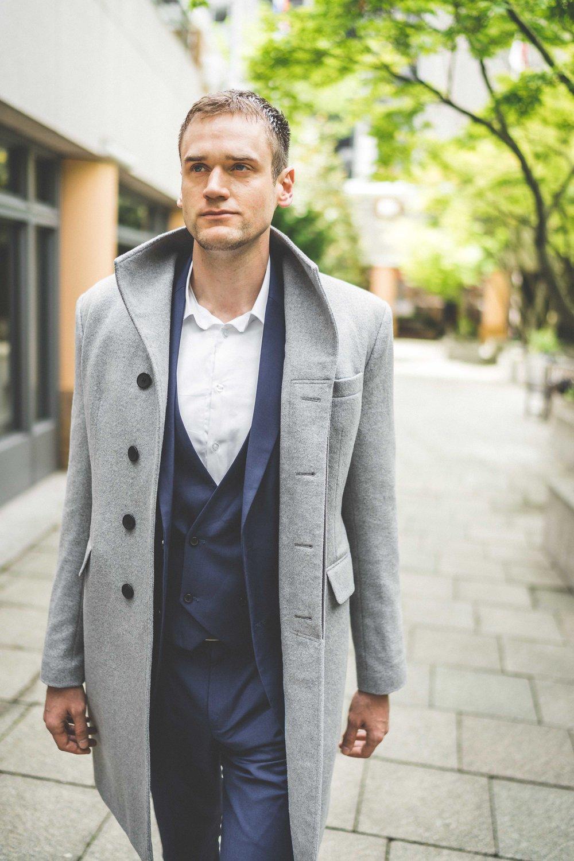 Men's Tailor Made Gray Bespoke Coat