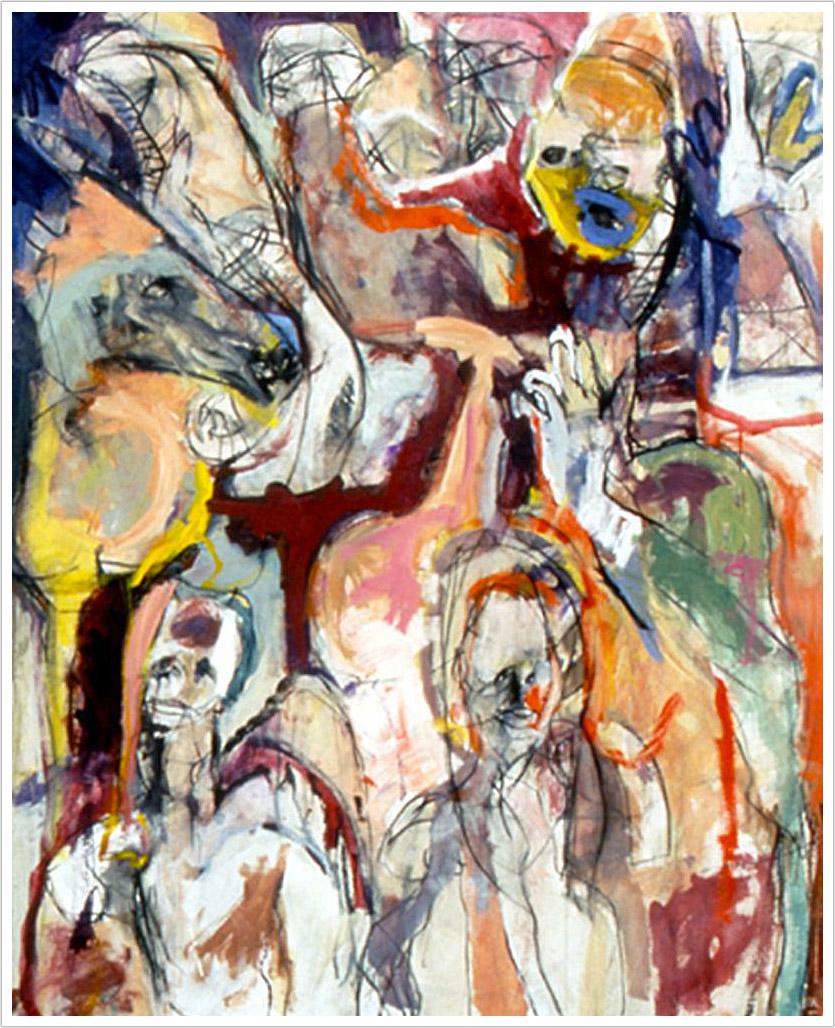 Santa Cruz mixed media on canvas | 72″ x 58″ | 1990s