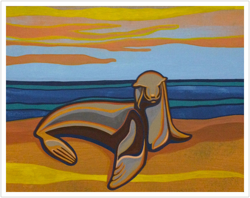 "Sea Lion acrylic on canvas | 16"" x 20"""