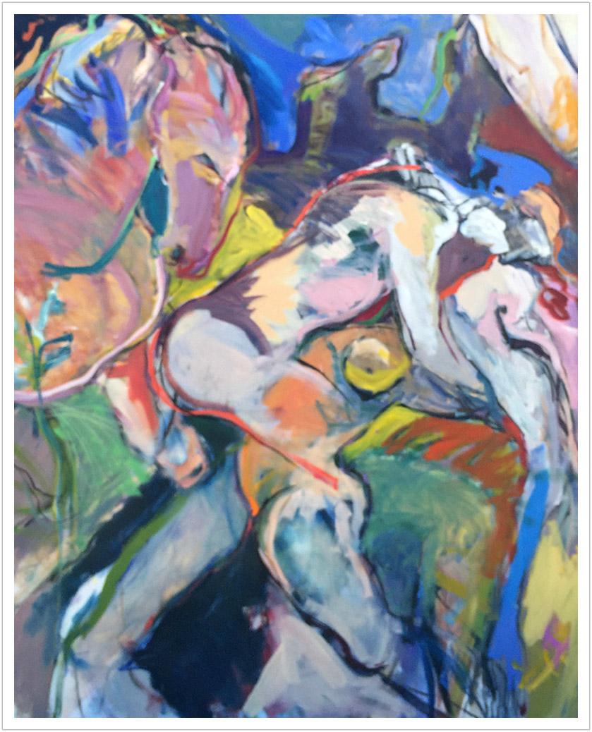 Fable III–Tango acrylic on canvas | 72x58 a/c |1980s