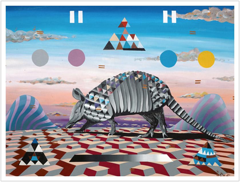 "Armadillo acrylic on canvas | 40"" x 30"" | 2013"