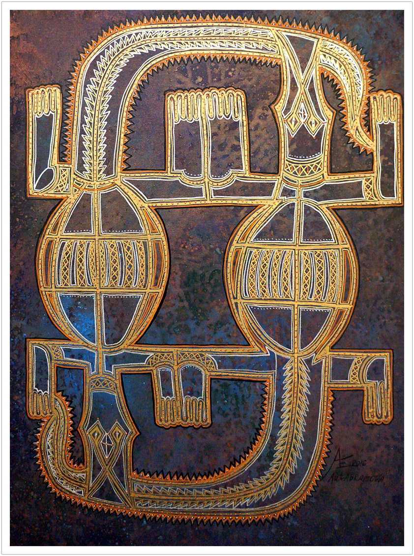 "Lizards of Eternity acrylic on canvas | 24"" x 18"""