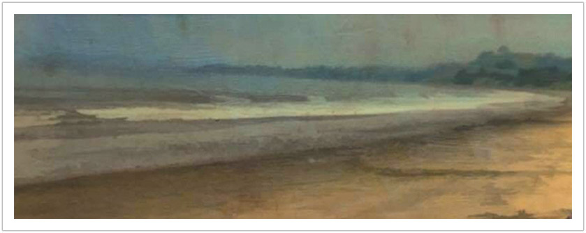 "Mornings Mist wax encaustic  | 44"" x 19"""