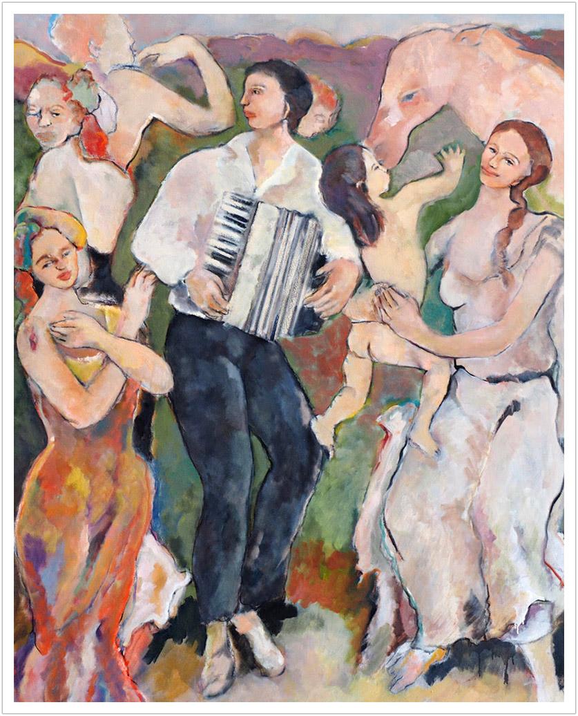 "Musics de la Tierra oil on canvas |72"" x 48"" |1998"