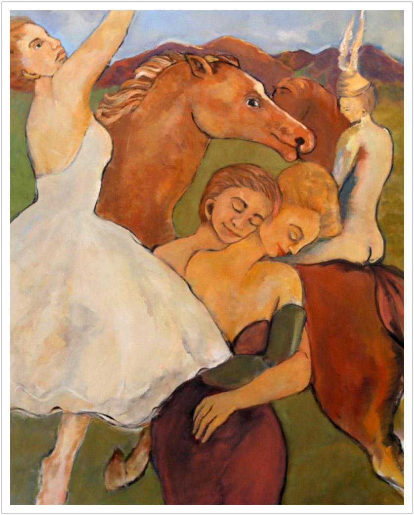"Balada Para Mi Vida, oil on canvas | 50"" x 40"" |2003"