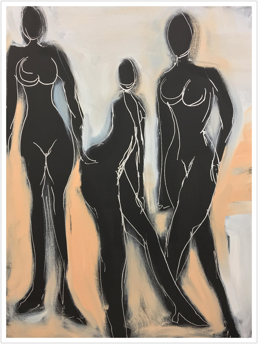"Womens Rights 2 oils |  30"" x 40"""