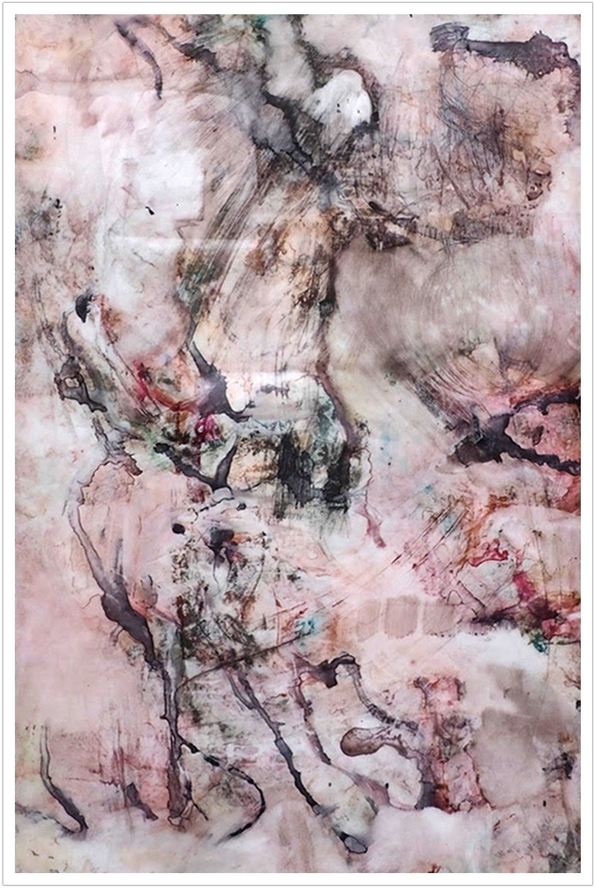 "River Durga II watercolor on yupo paper |23"" x 35"" | 2016"