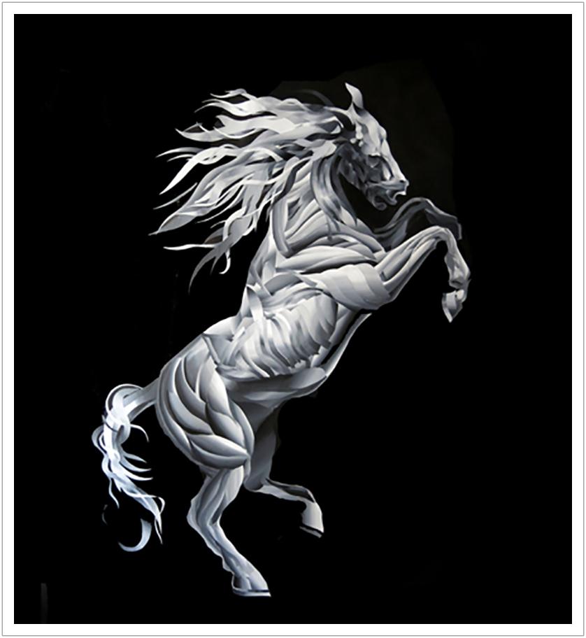 "White Horse acrylic on canvas | 70"" x 54"" | 2014"