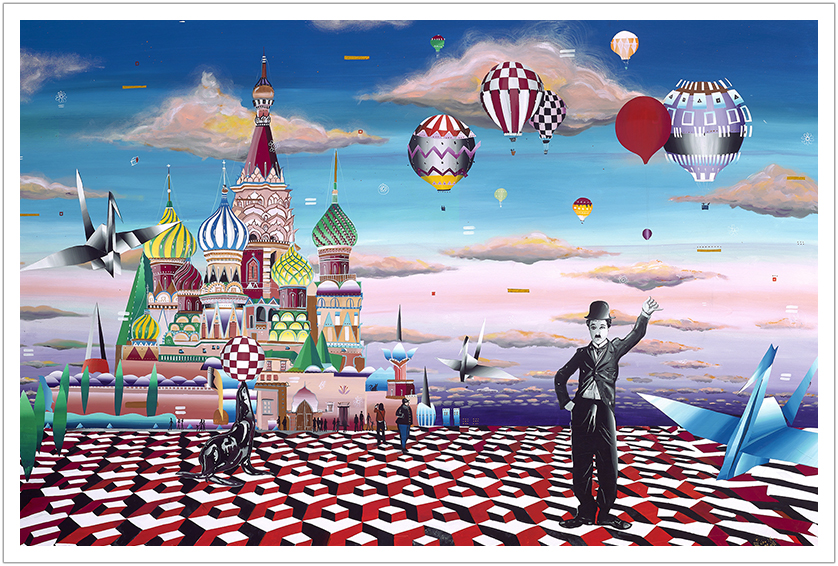 """The Red Square acrylic on canvas 