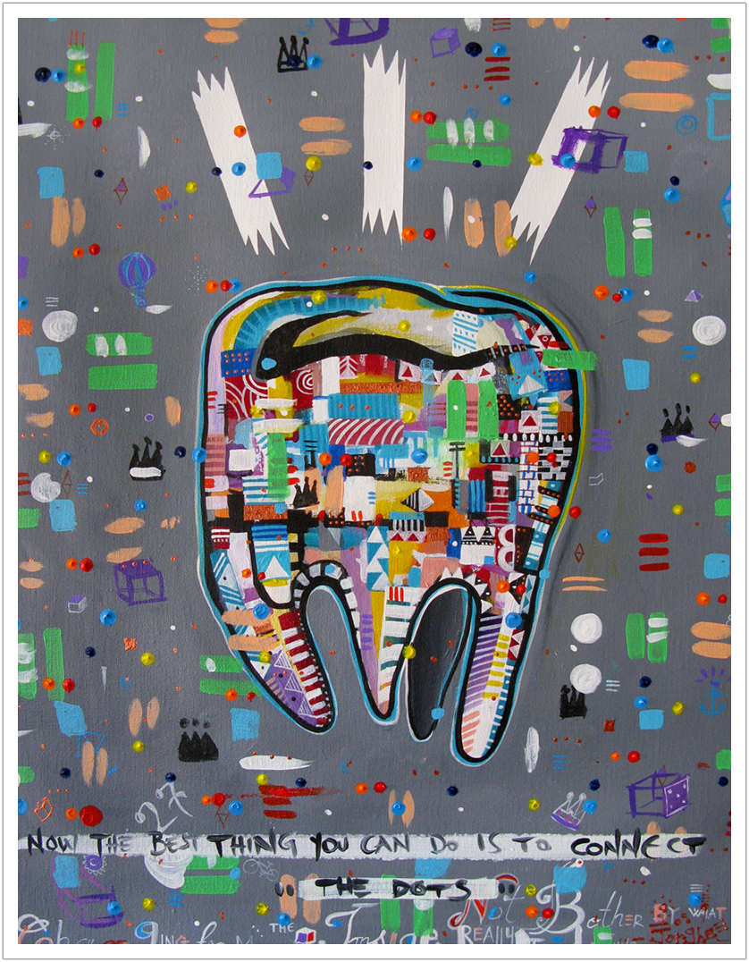 "Wisdom Tooth acrylic on canvas | 24.5"" x 18.5"" | 2015"