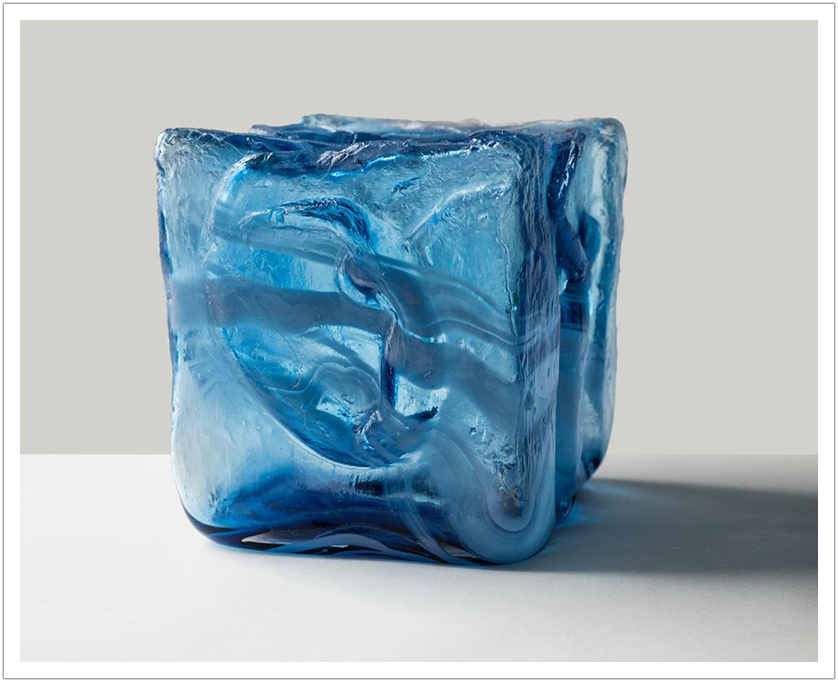 """Momentum"" mold blown glass 