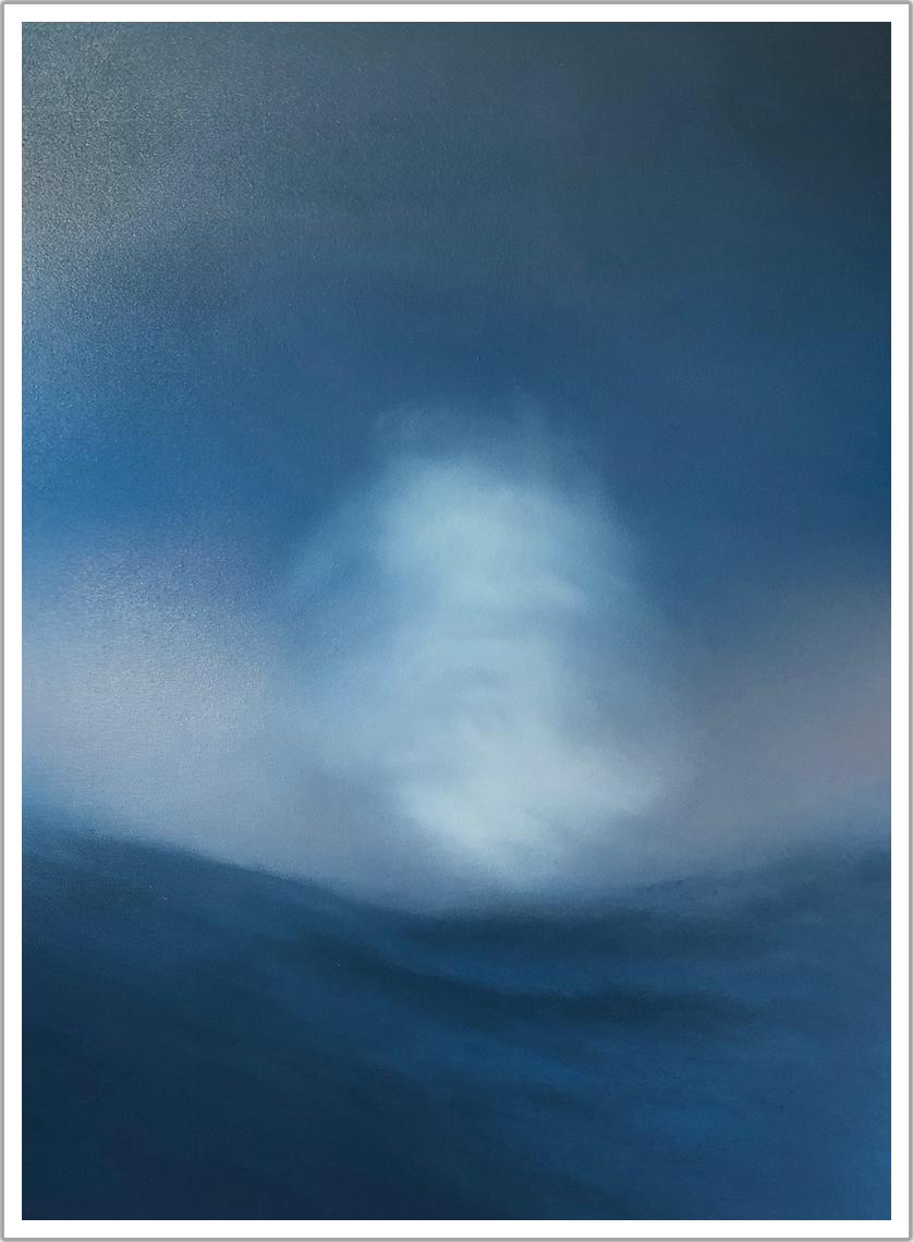 "Float Ball acrylic on canvas | 30"" x 40"""