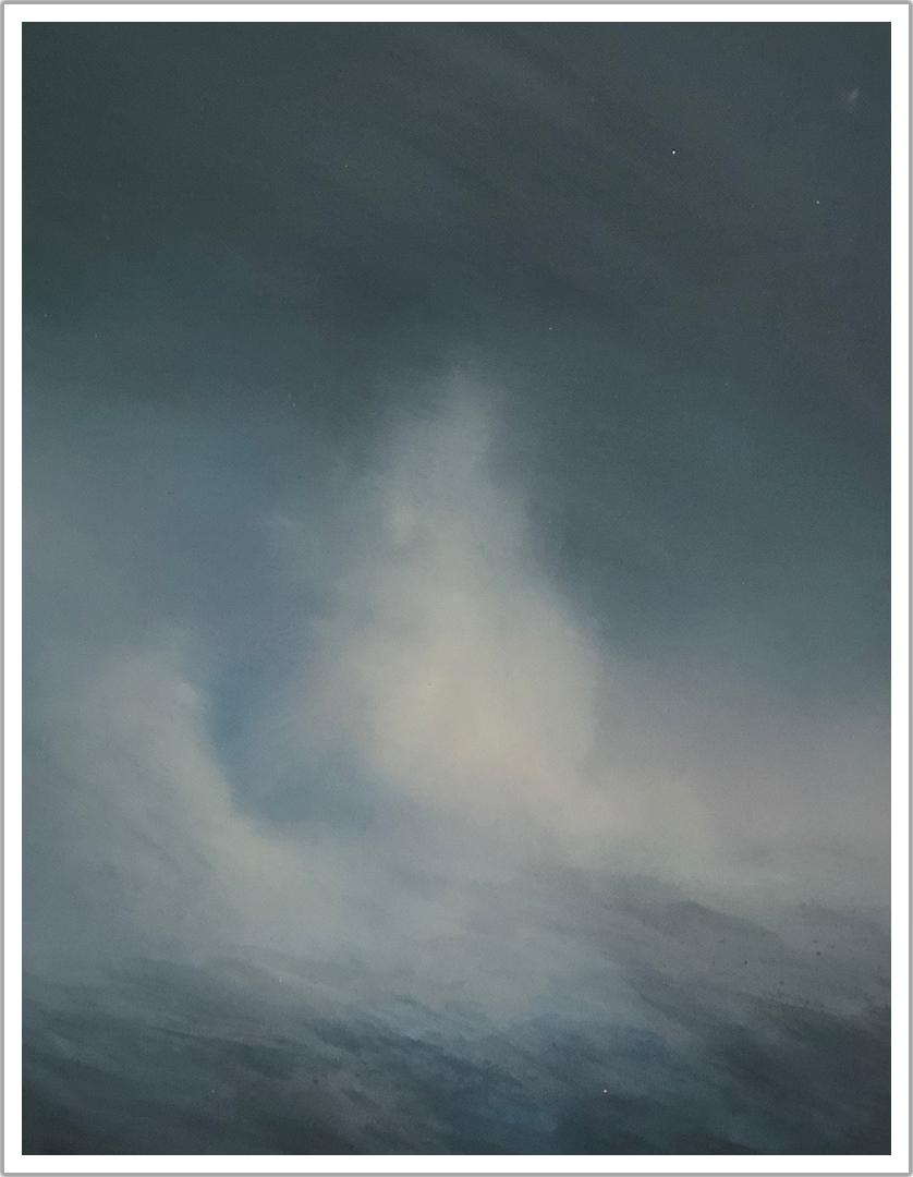 "Cone #2 acrylic on canvas | 12"" x 16"""