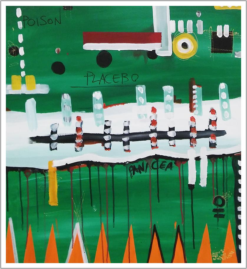 Poison Placebo Panacea acrylic on canvas |