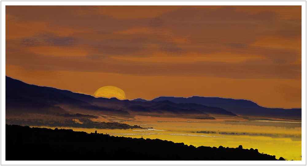 "The Rising Sun limited edition print on canvas | 39"" x 19"""