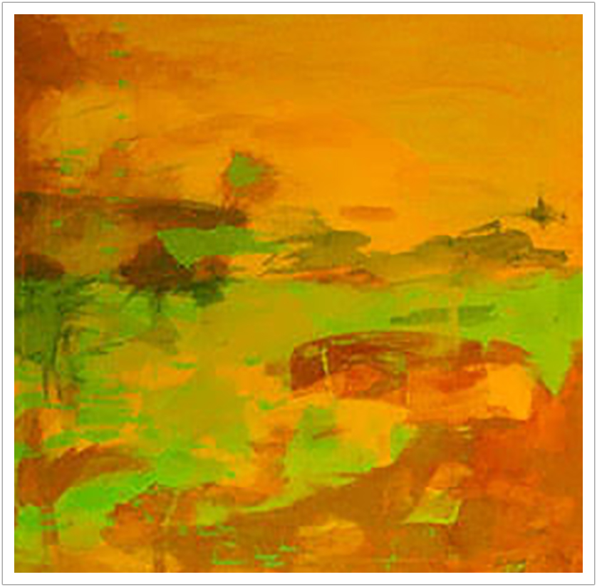 Abstract Landscape limited edition print on canvas
