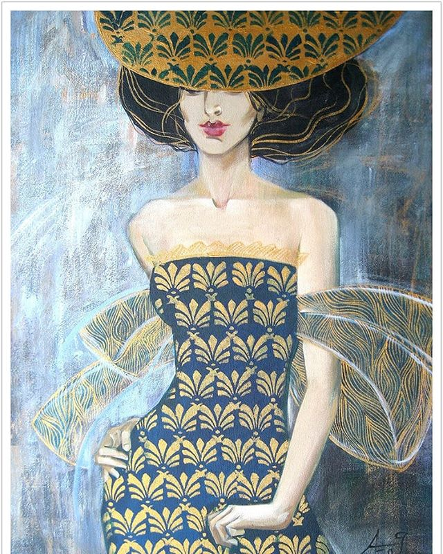 """Enigma"" acrylic on canvas by Ekaterina Abramova @artabramova on display now at Tumbleweed Arts @tumbleweedarts in Laguna Beach  Join us tonight Thursday March 1st from 6-9pm for First Thursdays Art Walk @firstthursdaysartwalk  #fineart #painting #acrylic #figurativepainting #enigma #tumbleweedarts #artwalk #LagunaBeach #firstthursdaysartwalk"