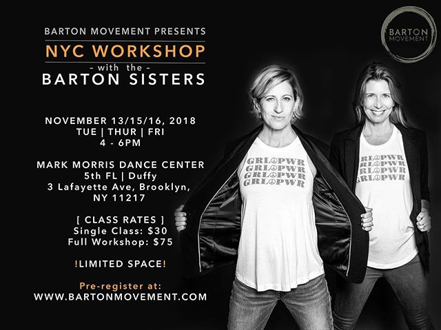 Hollah NYC!!! We are excited to announce both Barton sisters will now be in NYC next week! Come dance with us! Pre- registration recommend, as space is limited. Link in bio.  #nycdance #nycdancers #dancenyc #dance #danceworkshop #bartonsisters