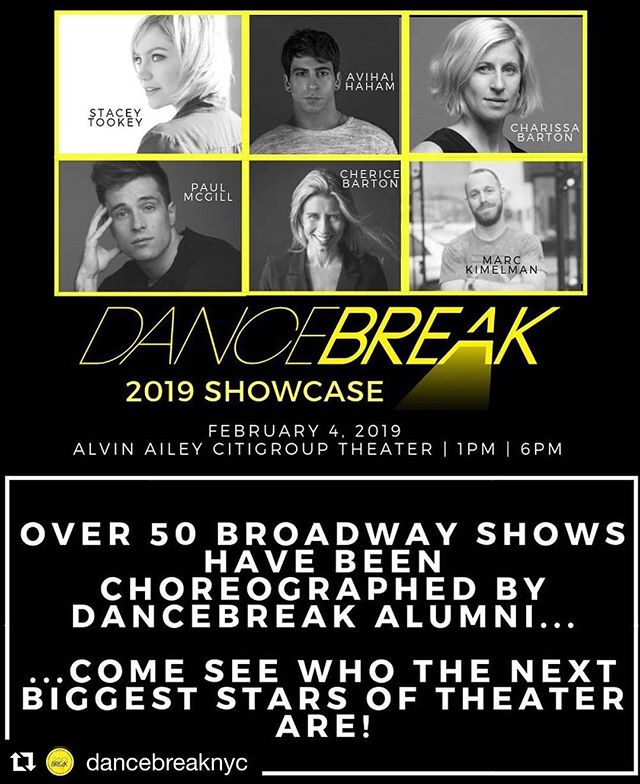 #Repost @dancebreaknyc with @get_repost ・・・ The ticket link for our 2019 showcase is now live! You DON'T want to miss what these 6 mega-talented choreographers have in store for Feb 4th, so get your tickets while you still can. Link in bio!