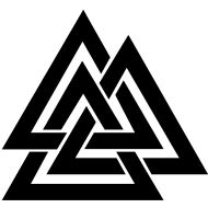 """-  The Valknut, or Slain Warriors Knot, is closely associated with the main Norse god, Odin (Oðínn). Although the actual etymology of the Valknut may be lost to antiquity forever, from the little evidence available, historians believe that the Valknut represents Life, Death and Re-birth. Vanquish firmly believe that this philosophy is not only applicable to those ancient Norse warriors in battle, but also applicable to modern everyday life. We live, we try, we succeed or we fail. We get up and we try again. After all, """"it is better to fight and fall, than live without hope"""""""