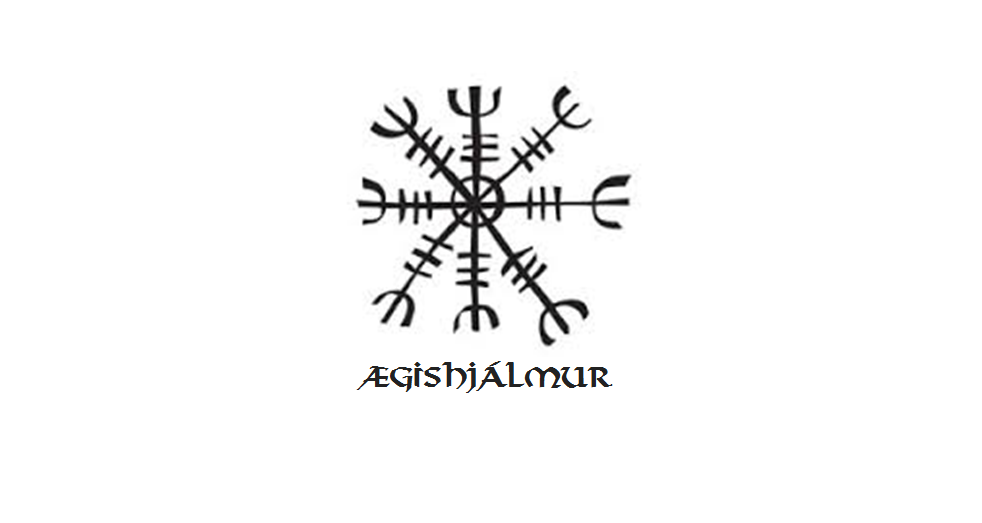 "Aegishjalmur or The Helm of Awe; in Viking times, if you happened to come face to face with this symbol in a fight or a battle situation, in generally meant you were in a spot of bother. A fearsome looking symbol, which in most depictions is shown with 8 arms protruding and protecting the inner circle with multiple protective spikes laden at the tip and on each stalk. A quote from Stephen E Flowers interpretation of the ancient Icelandic book of magic called the  Galdrabok  states: "" When Sigurdr slays the great etin=worm or serpent named Fafnir in order to win the treasure hoard of the Niflungs, one of the objects of power that he gets is the aegishjalmur. This object is not a helmet in the usual sense but rather a general covering that surrounds the wearer with an overawing power to terrify and subdue his enemies"""