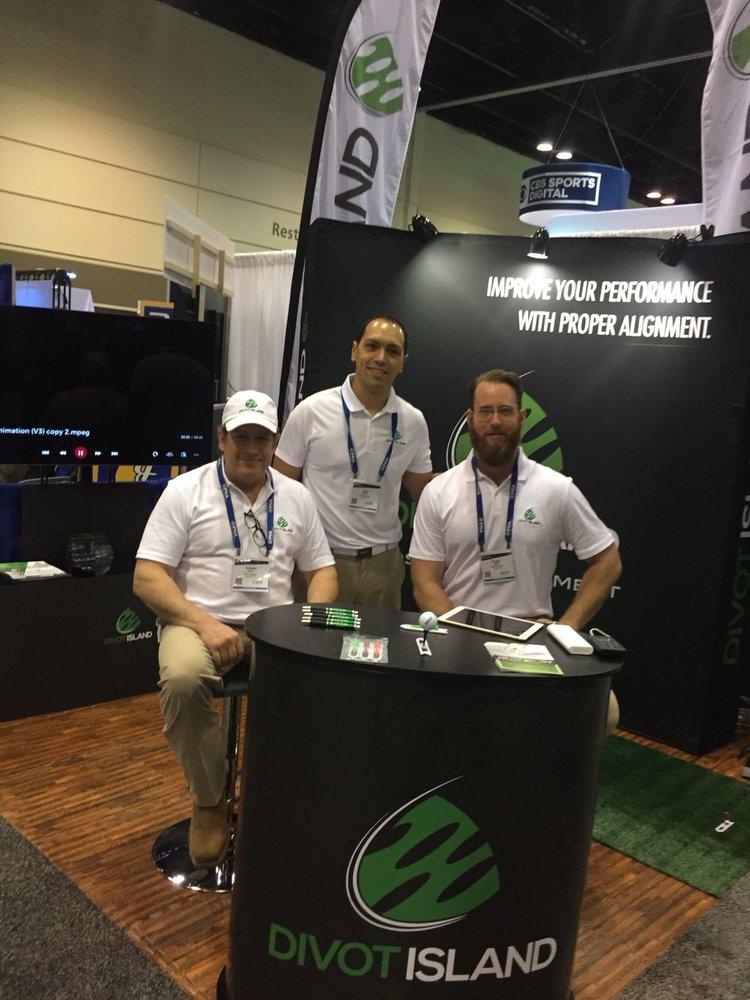 DivotIsland Team: - Left to right:Shawn Pope (Inventor)Juan Galindo(COO)Blake Jones (Founder)Not Present: Tony McRobers(Sales)Veterans. Buddies. Golf Enthusiasts. Entrepreneurs.