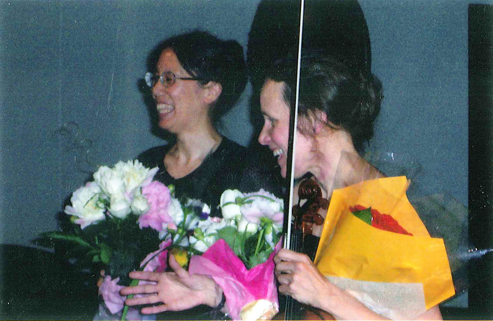 Kathleen Forgac and Susan Slowick after a Cape Ann Chamber Music concert