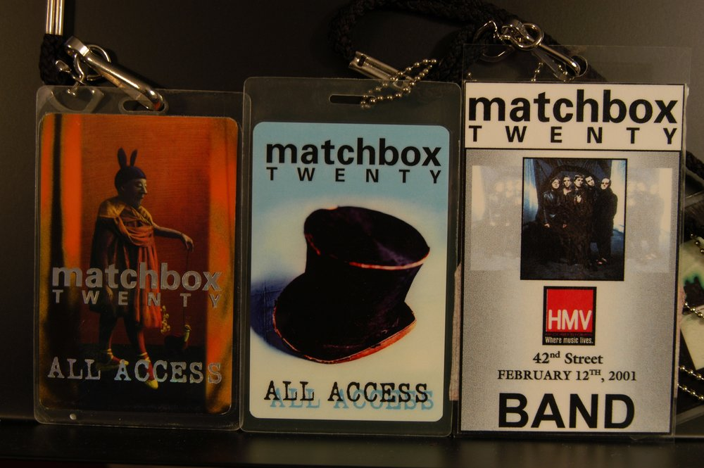 Matchbox Twenty Tour Badges