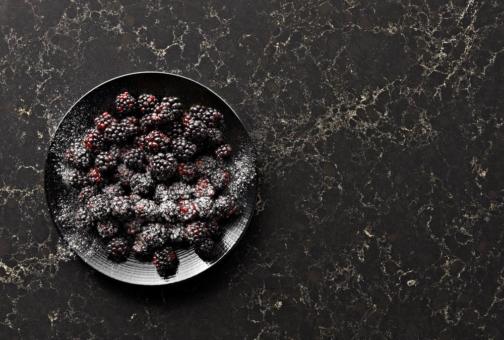 caesarstone•blackberries