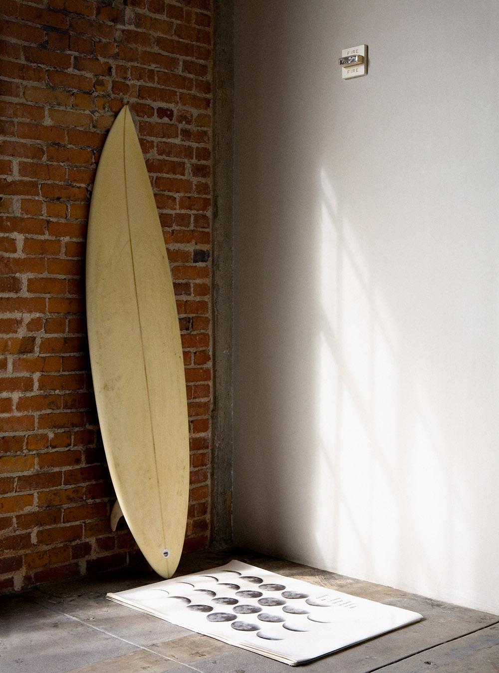 christina's surfboard
