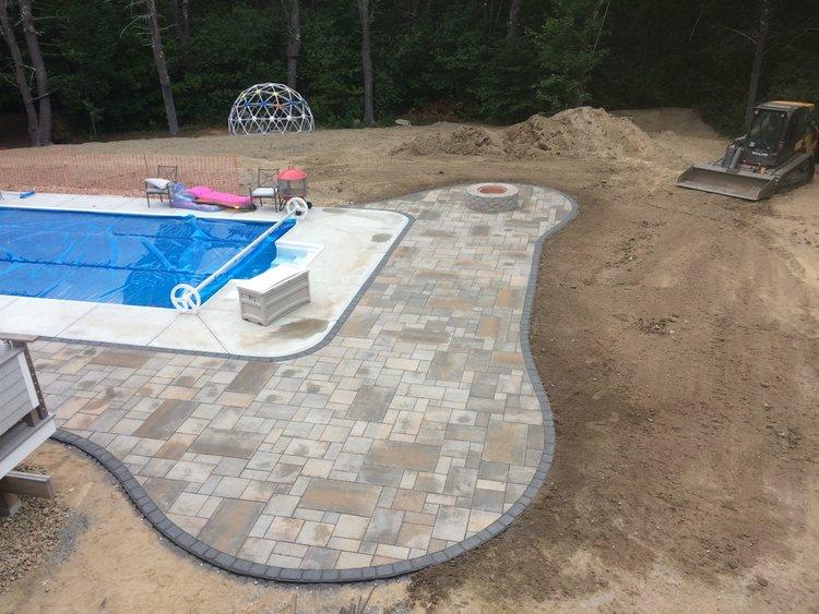 falmouth pool patio installation ken fengler landscaping - Patio Installation