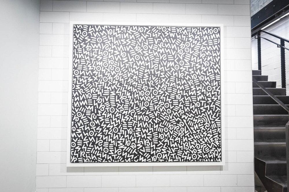 Artwork by Toronto artist  Bryan Espiritu  of  The Legends League . This piece commemorates Michael Jordan's famous 9000 shots quote.Photo by  @re.mark
