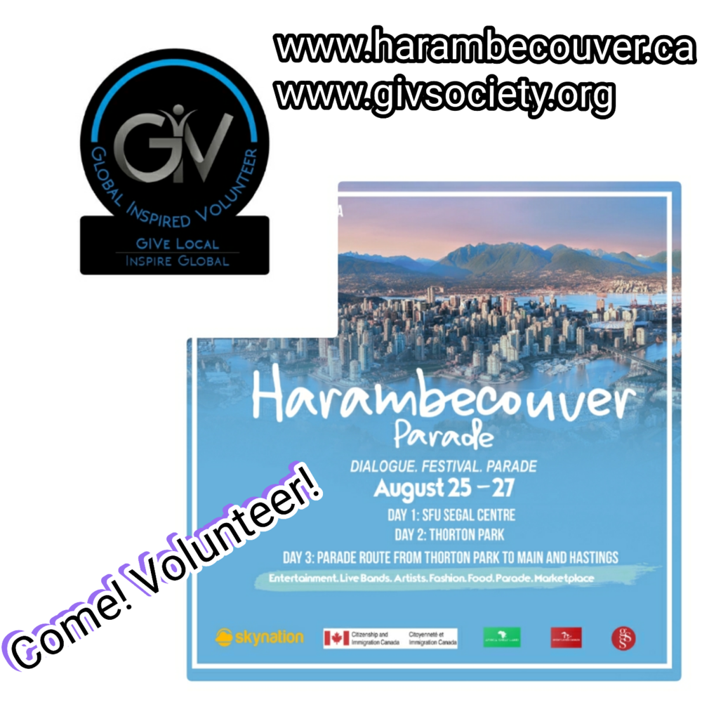 Harambecouver: August 25th - 27th - UPDATE: The event pulled people from all backgrounds together to learn from, and educate each other as part of the initiative to build a stronger community! All while having fun and GIVing! *Click the image to see photos!*