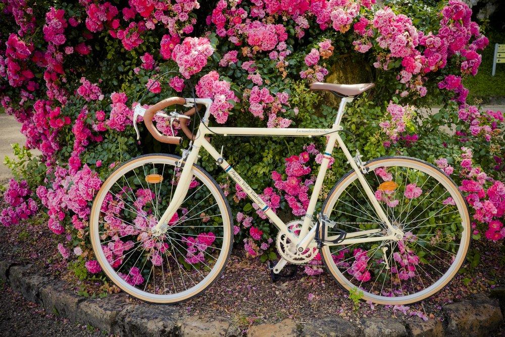 Bicicleta personalizada emprestada pela AVV para fazer os meus percursos.
