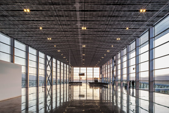 Airport Bodrum, project lead, concept and detail planning,   @ dinnebier+blieske with Tabanlioglu architects, 2012  www.lichtlicht.de ,  www.blieske.de   Picture credits: Murat Germen