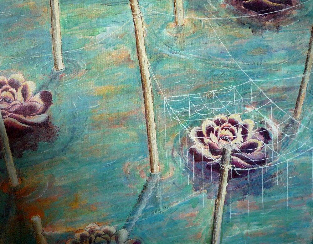 "Untitled, 22"" x 28"", acrylic on canvas, 2010"